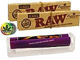 RAW Zen konische Drehmaschine 110mm - 2X Connoisseur KS Papers inkl. Tips - Rasta-Button bunt 25mm