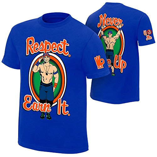 Brandsoon Men's WWE Cotton Round Neck Blue Ruber Print 2XL Size T-shirt( John Cena Print)  available at amazon for Rs.422