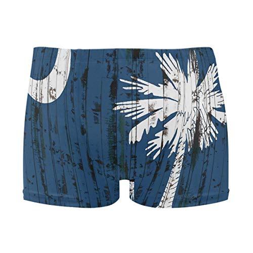 best gift Mens Swim Trunks Grunge South Carolina State Flag Boxer Briefs Board Short Beach Shorts Men Swimming Briefs Swimwear M - South Carolina Pool