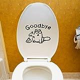 VENMO DIY Auf Wiedersehen WC Toilettensitz Badezimmer Aufkleber| Kühlschrank Wandtattoo| | Fliesen-Sticker Folie Aufkleber für Badezimmer Deko - Folie für Badezimmer-Gestaltung | 19X15CM (Black)