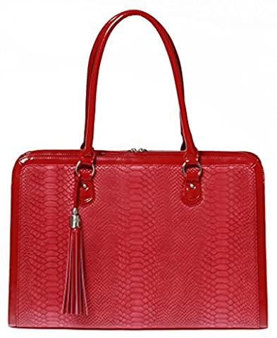 My Best Friend is a Bag Womens Briefcase – Handmade Laptop Bag – Red