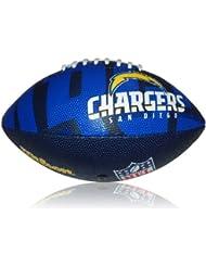 Wilson Football NFL Junior San Diego Chargers Logo - Balón de fútbol americano ( infantil, caucho ) , color multicolor, talla 5