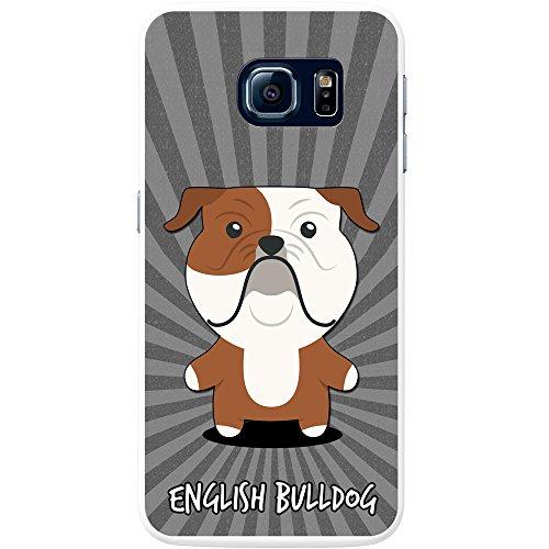 Englische Bulldogge, Britische Bulldogge Hartschalenhülle Telefonhülle zum Aufstecken für Samsung Galaxy S6 (SM-G920) (Bulldogge Englische Valentine)