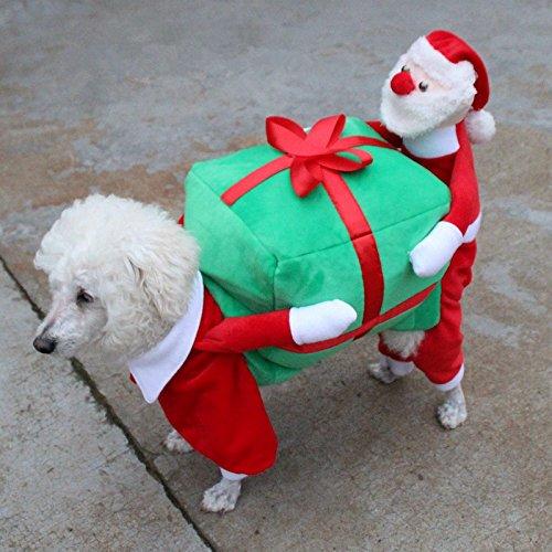 tüme lustige Weihnachtsmann Hund Kleidung Hund Geschenk Welpen Fleece Jacke warme Winter pet Kleidung, als pic, XL ()