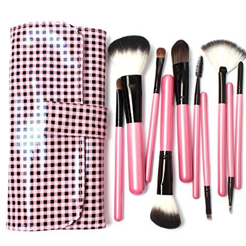 Cexin professionel 10 pinceaux maquillage exquis avec trousse pinceaux set