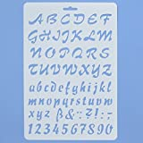 Asian Hobby Crafts Craft Stencils For Sketching, Scrapbooking, Kids Crafts (A4, Alphabet C)