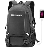 Laptop Backpack,Backpack for Men & Women Hiking Daypack,Anti-Theft Waterproof School Bookbag with USB Charging Port