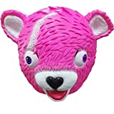 Leey Cuddle Team Leader Fortnite Pink Bear Maschera da gioco Melting Face Adult Latex Costume Toy Giochi giocattoli e attività ricreativa per bambini e ragazzi fortnite giocattoli (Rosa)