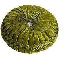 Dosige Moda Terciopelo Invierno Oficina Redondo cojín del Asiento Taburete de Cocina Silla Pad, 34x 10cm (Verde)