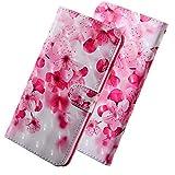HMTECH for LG K8 2017 Case 3D Luxury Pink Cherry Flower PU