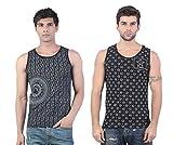 Black Versace & Black Star Printed Vest ...