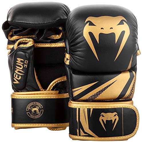 Venum Challenger 3.0, Guantoni da MMA Sparring Unisex – Adulto, Nero/Oro, S