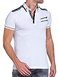 BLZ jeans - Polo chic homme blanc col chemise
