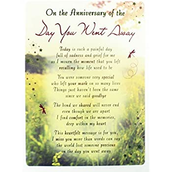 Anniversary day you passed missing you grave cards in memory anniversary of death grave card bereavement memorial remembrance keepsake plaque m4hsunfo