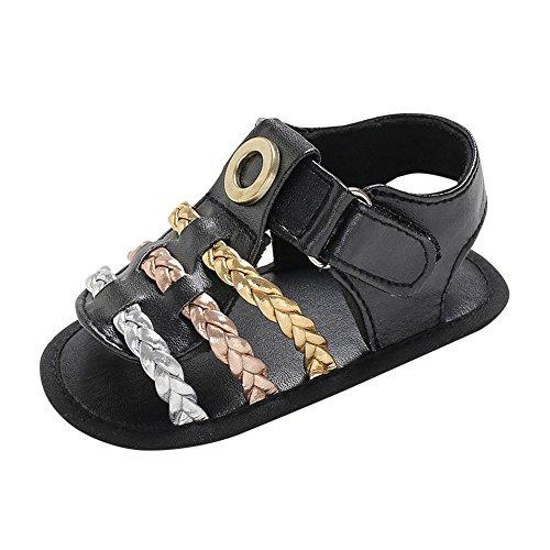 ♬GongzhuMM Sandales Filles Garçons Bébé Tisser D'été Souples Chaussures Filles Garçons Enfants Anti-dérapant 6-18 Mois