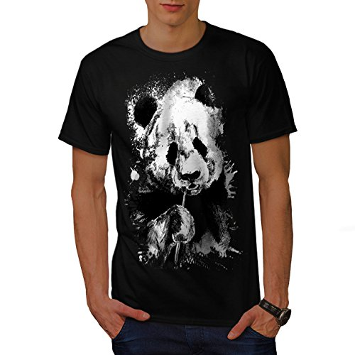 Essen Panda Gesicht Bambus Esser Herren S T-shirt | Wellcoda (Bambus Hawaii-shirt)
