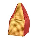 Sitzsack - Kuschelsack - Chillsack - Sehr belastbar - 110 cm hoch in 6 verschiedenen Farben (Rot/Karo)