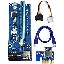 Yifeng PCI-E PCI Express Ver 0061x A 16x Powered riser scheda adattatore W/60cm cavo prolunga USB 3.0e cavo a pin Molex a SATA power GPU riser Adapter–Ethereum Mineraria ETH