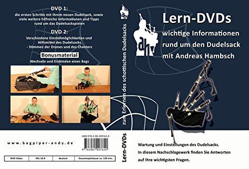 Lern-DVDs Dudelsack, Wartung und Einstellung, 2 DVDs