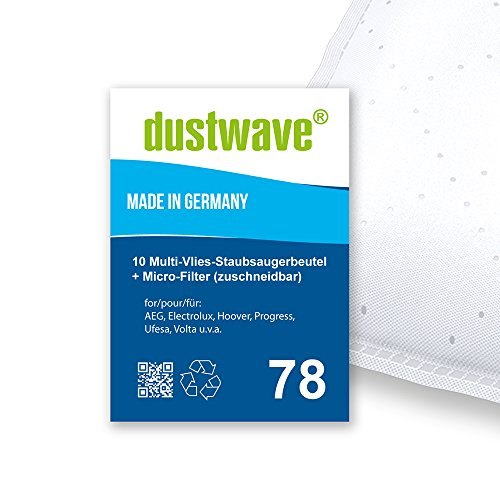 Sparpack - 10 Staubsaugerbeutel geeignet für Progress - PC 3315 Bodenstaubsauger - dustwave® Markenstaubbeutel - Made in Germany + inkl. Micro-Filter