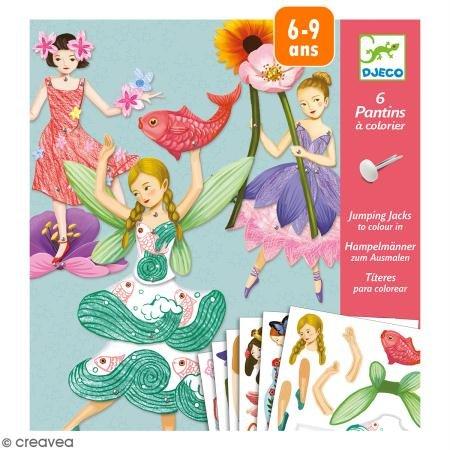Djeco - Kreativ Set Fairies mit beweglichen Elementen