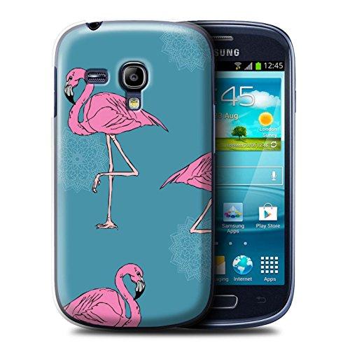 Stuff4® Hülle/Case für Samsung Galaxy S3 Mini/Mandala/Teal Muster/Netter Flamingo Karikatur Kollektion (Samsung S3 Teal Galaxy Case)
