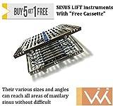 Wise Instruments Inc Elevación de seno instrumentos Cassette gratis de sus varios tamaños y ángulos pueden alcanzar todas las áreas del seno maxilar sin difícil