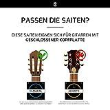 Gitarrensaiten Konzertgitarre ★ TESTSIEGER 2019¹ ★ Premium Nylon Saiten für klassische Gitarre & Akustikgitarre (6 Saiten-Set) + E-Book - 4
