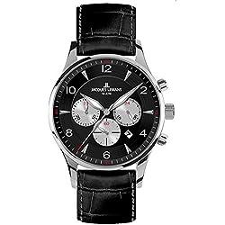 Jacques Lemans Men's Quartz Watch London 1-1654A with Leather Strap