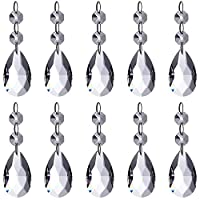Neewer Teardrop Chandelier Crystal Pendants Glass Beads Pendant for Wedding/Home/Office House Decoration (10-Pack)