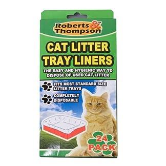 24 cat litter tray liners 24 Cat Litter Tray Liners 51I1xztgGvL