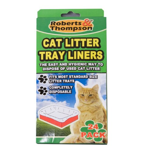 Round cat litter box liners