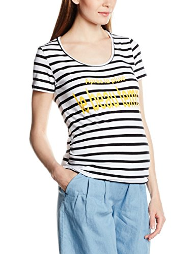Mamalicious Mlholi Ss Jersey Top, T-Shirt de Maternité Femme Blanc (Bright White)