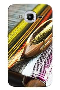 Omnam Thread Making Machine Printed Designer Back Cover Case For Samsung Galaxy J2 2016
