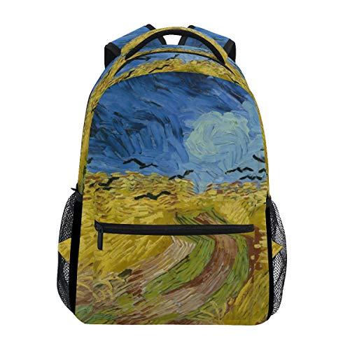 Fajro van gogh vissersboten zaino da viaggio borsetta scuola confezione, unisex, fj-002, 9, taglia unica