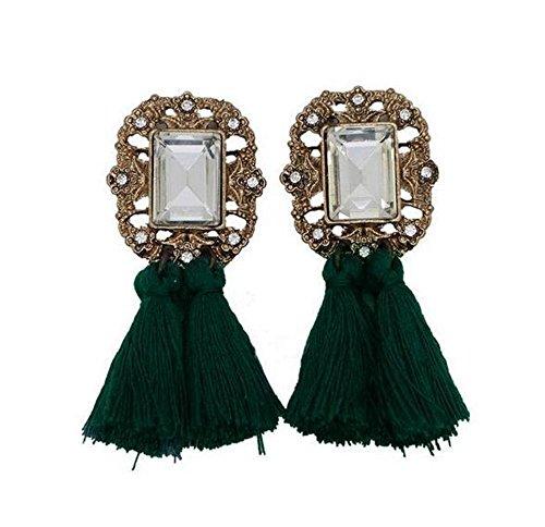 Axiba Kristall-Quaste Ohrring Ohrringe Mode Diamant Edelstein Garn Tassel Stud