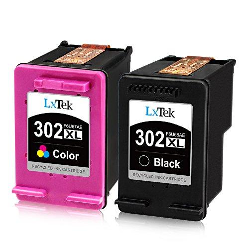 LxTek Remanufactured für HP 302 302XL Druckerpatronen für HP DeskJet 1110 2130 2134 3630 3632 3634 Envy 4520 4521 4522 4523 4524 Officejet 3830 3834 4650 4651 4652 4654 (1 Schwarz, 1 Farbe)