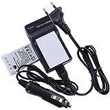 DSTE 2-Pieza Repuesto Batería y DC12E Viaje Cargador kit para Nikon EN-EL5Coolpix P510P520P530P5000P5100P6000S1037004200520059007900P3P4P80P90P100P500Digital Cámara