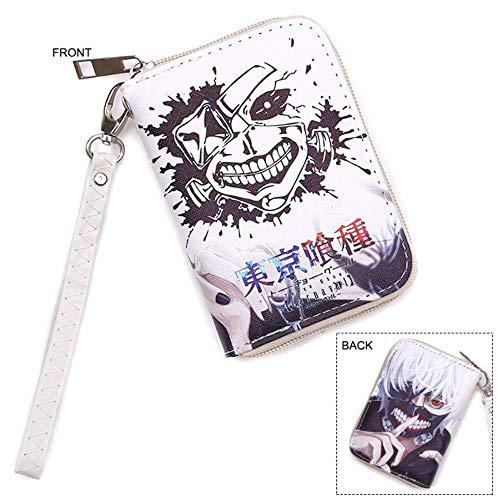 Pallima Geldbörse Geldbeutel Portemonnaie Portmonee Brieftasche Anime Tokyo Ghoul PU Leder Farbe Zipper Short Mask Wallet B (Zipper Anime Wallet)