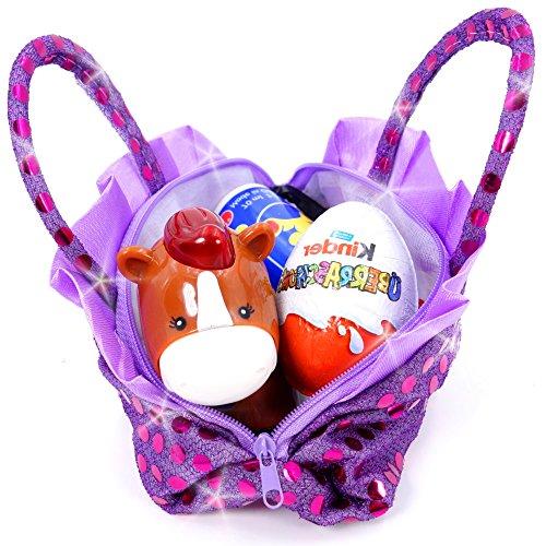 German Trendseller Glitzer Kinder Handtasche ┃ Mitgebsel ┃ Kindergeburtstag ┃ Handtasche für Kinder