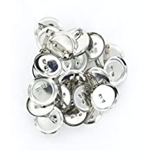 Cikuso 20pcs Broches de Seguridad de 20mm de Color Plata