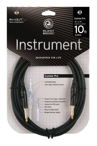 PLANET WAVES PW CPG 10 CUSTOM PRO SERIES MONO 1/4 INSTRUMENT CABLE  STRAIGHT   STRAIGHT 10FT  (3 0M)