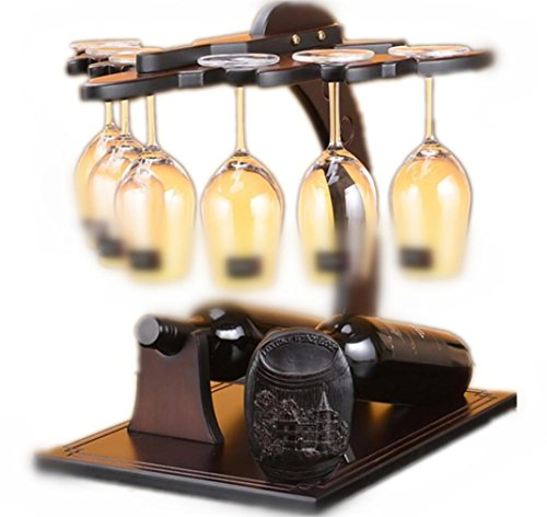Portavini Legno Bella Aircraft Modelling Wine Rack europea Retro stile di visualizzazione ripiani contiene 2 bottiglie di vino e 6 bicchieri da vino