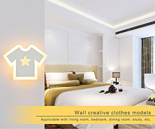 5151BuyWorld Wandleuchte Moderne Kinder-Lampe LED-T-Shirt Lichter Wohnzimmer Schlafzimmer Innenhauptbeleuchtung Mounted [Nature White (3500-5500K)]