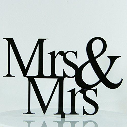 même sexe Mrs Gay Lesbian Proposition Décoration de fiançailles de mariage gâteau Miroir acrylique Silhouette
