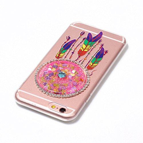 iPhone 7 Hülle OuDu Glitzern Funkeln Traumfänger Bunt Hülle TPU Silicone Etui für iPhone 7 Bling Glitter Case Soft Lightweight Bumper Sparkle Style Cover Flexible Schlanke Schale Glatte Leichte Tasche Traumfänger Bunt #3