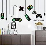 Spielmaschine Spiel Griff Dekoration Kronleuchter Wandaufkleber Cafe Home Decor Kunst Hintergrund Aufkleber Wandbild