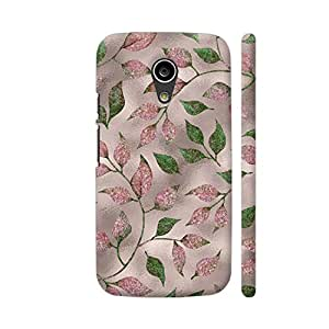 Colorpur Moto G2 Cover - Autum Leaves Pink Metal 2 Case