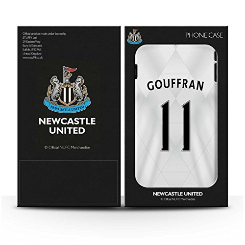 Offiziell Newcastle United FC Hülle / Glanz Harten Stoßfest Case für Apple iPhone 5/5S / Shelvey Muster / NUFC Trikot Away 15/16 Kollektion Gouffran