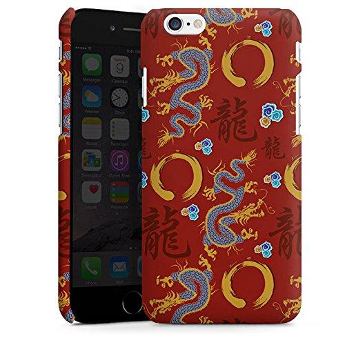 Apple iPhone X Silikon Hülle Case Schutzhülle China Drachen Schriftzeichen Premium Case matt